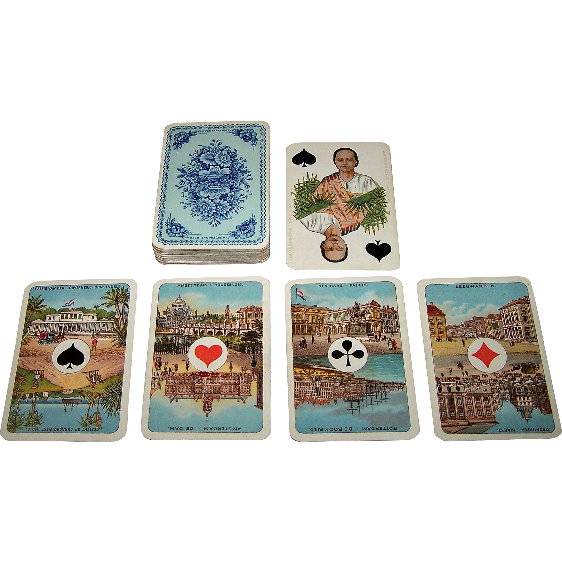 "C.L. Wüst ""Wilhelmina"" Playing Cards, Ascendancy of Queen Wilhelmina, c.1890"