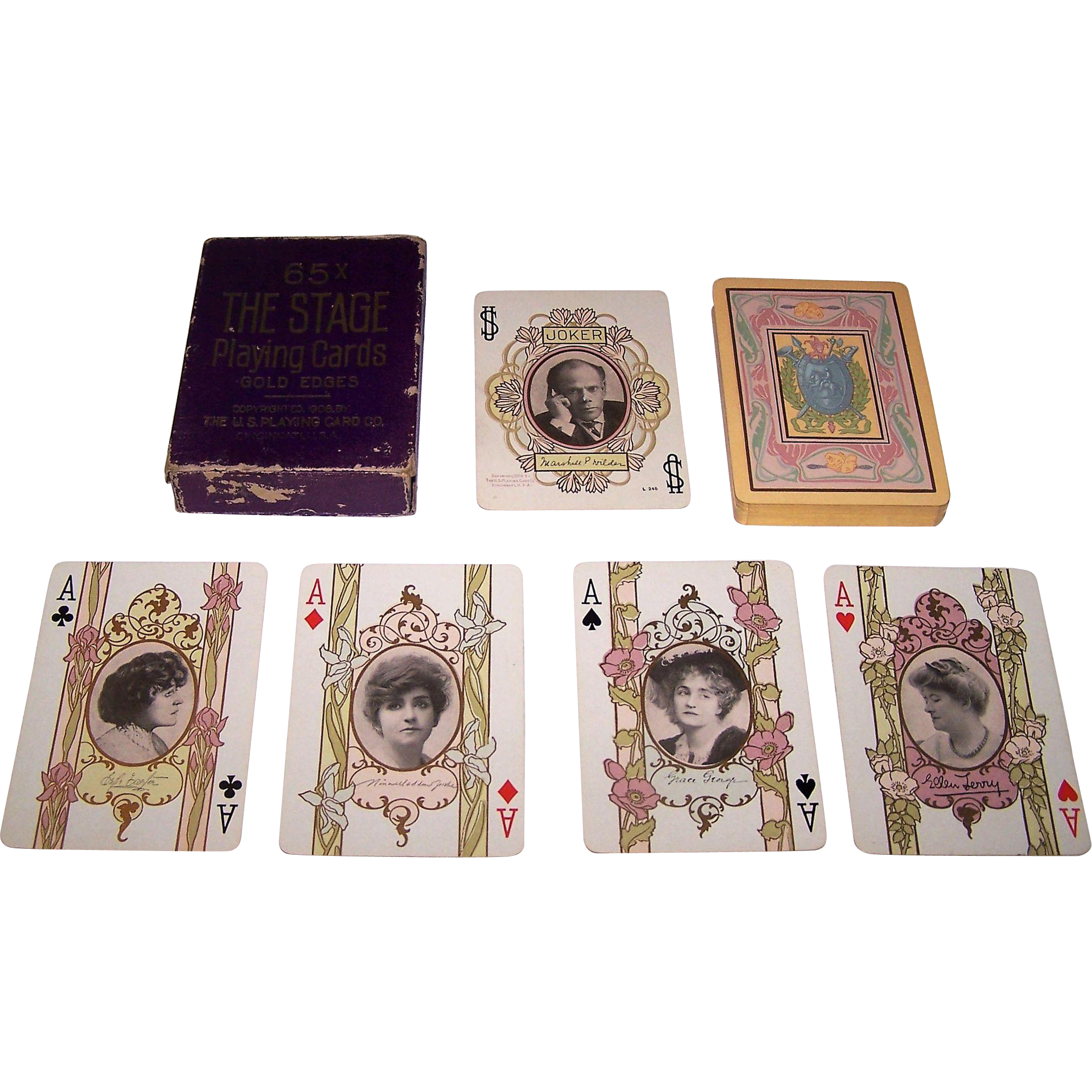 """USPC """"Stage #65"""" Playing Cards, c.1908"""