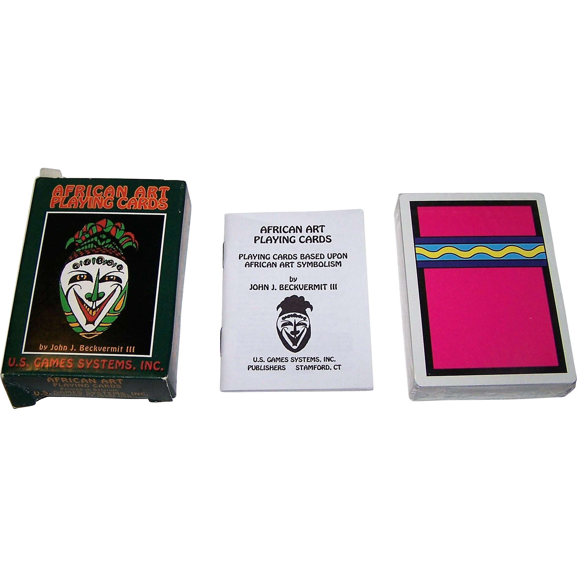 "Carta Mundi ""African Art"" Playing Cards, U.S. Games Systems Publisher, John V. Beckvermit III Designs, c.1994"
