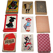 "3 ""Schwarzer Peter"" (""Black Peter"") Card Games, $10/ea.: (i) German ""Schwarzer Peter,"" c.1920s; (ii) Gold Pfeil ""Schwarzer Peter,"" c.1940; and (iii) Piatnik ""Schwarzer Peter,"" Willy Mayrl Designs, c.1960"
