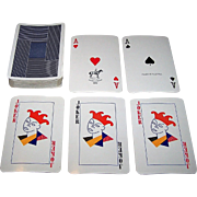 "Piatnik ""Blue (Red?)"" Playing Cards, c.1970"