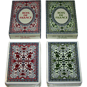 "Twin Decks Grimaud (France Cartes) ""Rois de France"" Playing Cards, [Original Printed by Grimaud as ""Jeu Historique"" in 1856], Reprint c.1969, $15/ea."