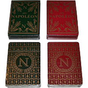 "Twin Decks Grimaud (France Cartes) ""Jeu Napoleon"" Playing Cards, Mlle. Matéja Designs, c.1969, $15/ea."