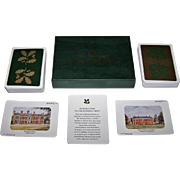 """Double Deck Neil MacLeod Prints and Enterprises, Ltd. """"National Trust Properties Pack"""" Playing Cards, Michael C. Smith Illustrations"""