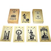 "Church of Light ""Brotherhood of Light"" Tarot Cards, C.C. Zain Creator/Designer, Second Black and White Edition, c.1960s"