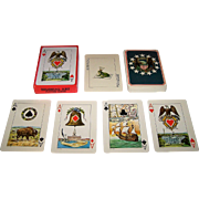 "Morgan Press, Inc. ""Colonial Art"" Oversized Playing Cards, David Ludwig Bloch Designs, c.1970"