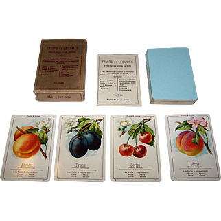 "Dondorf No. 342 ""Fruits et Legumes"" Quartet Card Game, c.1920"