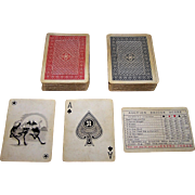 "Double Deck Nintendo ""Imitation National Playing Card Company"" Playing Cards, c.1930"
