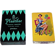 "Arrco ""Plastilac"" Pin-Up Playing Cards, Edward D'Ancona Design (Back), c.1947"
