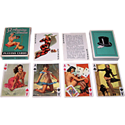 """Brown & Bigelow (Creative Playing Card Co., Inc.) """"52 American Beauties"""" Pin-Up Playing Cards, Gil Elvgren Designs, c.1955"""