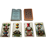 "VSSF ""Bayerisches Einfachbild"" Playing Cards, Cornflower Backs, Altenburger Tarokkarte No. 145, c.1930"