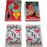 """Brown & Bigelow """"Coca Cola"""" Glamour Playing Cards, Coca Cola Advertising, c.1959"""