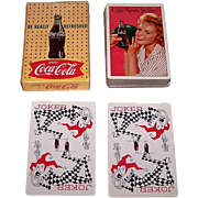 "Brown & Bigelow ""Coca Cola"" Glamour Playing Cards, Coca Cola Advertising, c.1961 (Girl w/ Bowling Ball)"