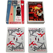 """Brown & Bigelow """"Coca Cola"""" Glamour Playing Cards, Coca Cola Advertising, c.1963 (Couple in Front of Fireplace)"""