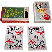 """Brown & Bigelow """"Coca Cola"""" Glamour Playing Cards, Coca Cola Advertising, c.1956"""