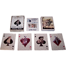 "USPCC (?) ""Fairy Tale Art"" Pinochle Playing Cards, Unique 3D Games Publisher, Arthur Rackham Illustrations"