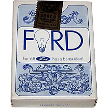 "Arrco ""Ford"" Playing Cards, Ford Motor Company Advertising, c.1968"