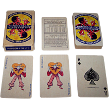 "Ganga Saran & Sons ""Carew's Fine Liquors"" Advertising Playing Cards, Phipson's & Co., Ltd. Publisher, c.1980s"
