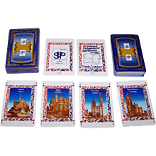 """Heron S.A. """"Credit Mutuel"""" Playing Cards, Société  Philatélique de Picardie, c.1990s"""