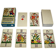 "Piatnik ""Russisches Tiertarock"" Facsimile Animal Tarock Cards, [Original by Johann Matheus Backofen, c.1805], c.1986"