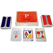 "Double Deck Grimaud ""Pierre Cardin"" Playing Cards, New Suits and Suit Symbols, c.1973"