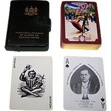 """Worshipful Company (De la Rue) Playing Cards, """"Their Majesties Visit to France"""" c.1938"""