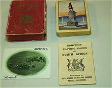 """USPC """"Souvenir Playing Cards of South Africa,"""" South African Railways and Harbours Publisher,  c.1905"""
