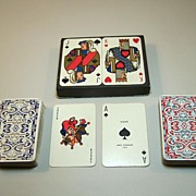 "Double Deck Draeger Freres ""Ciel de France"" Playing Cards, Miro Company Publisher, Jacques Branger Designs, c.1950"