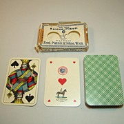 "Piatnik ""Kasino-Pikett"" Playing Cards, Skat Deck, Viennese Large Crown Pattern, w/ Wrapper, c.1919-1924"