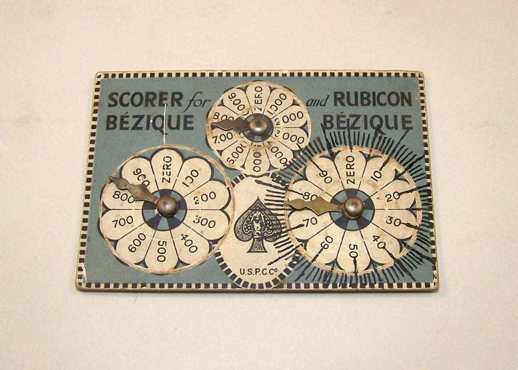 "USPC ""Scorer for Bezique and Rubicon Bezique,"" c.1899"