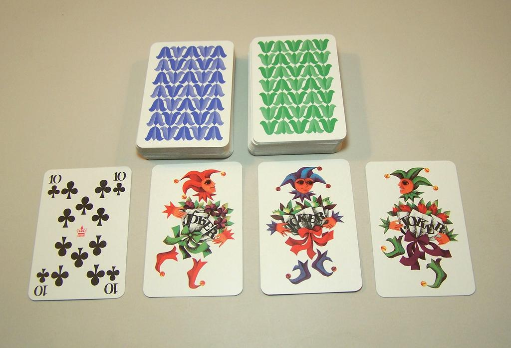 "Double Deck Coeur ""Gracia"" (""Grace"") Playing Cards, Hannelore Heise Designs, c.1972"