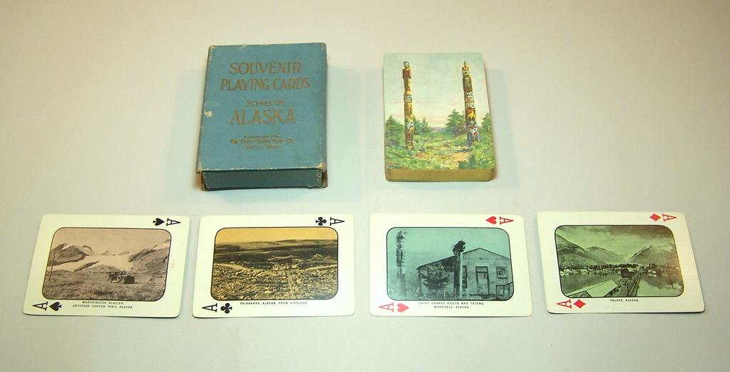 "USPC ""Alaska Souvenir"" Playing Cards, Puget Sound News, c.1928"