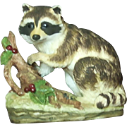 Lefton Japan Raccoon With Berries KW4752