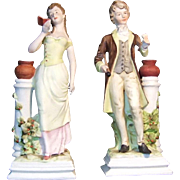 Lefton Japan 8 inch Couple on Pedestals GGS5752