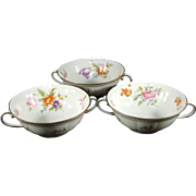 Krautheim Bavaria Cream Soup Bowls FR18 Set of 3
