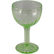 Anchor Hocking Cameo Green Wine Goblets