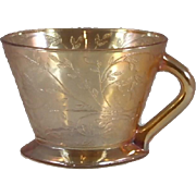 Jeannette Floragold Iridescent Square Footed Cup