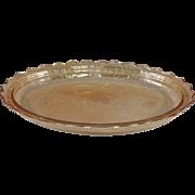 Jeannette Floragold Iridescent Oval Platter
