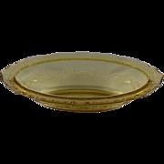 Federal Amber Normandie Oval Vegetable Bowl