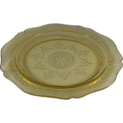 Federal Patrician Amber Dinner Plate