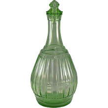 Hazel-Atlas New Century Decanter in Green