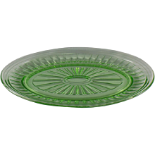 Hazel-Atlas New Century Oval Platter in Green
