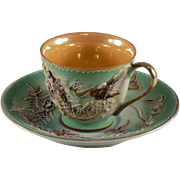Occupied Japan Dragonware Demitasse Cup and Saucer