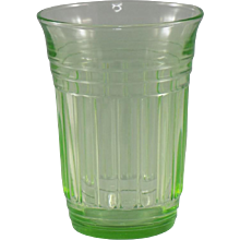 Hazel-Atlas New Century 9 Ounce Flat Tumbler in Green