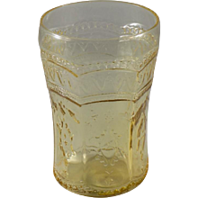 Federal Patrician 9 Ounce Flat Tumbler in Amber