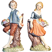 Lefton Young Couple with Fruit 470