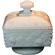 Westmoreland Paneled Grape Beaded Honey Dish with Lid