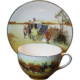 Royal Doulton Coaching Days Cup and Saucer