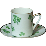 Shamrock Demitasse Cup and Saucer