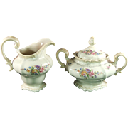 Rosenthal-Continental Pompadour Style Sugar and Creamer Pattern 3418
